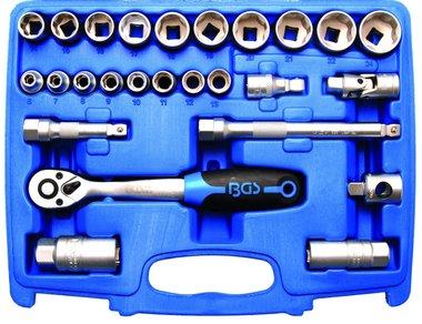 Set chiavi a tubo corrugato profilo ondulato 10 mm (3/8) 26 pezzi