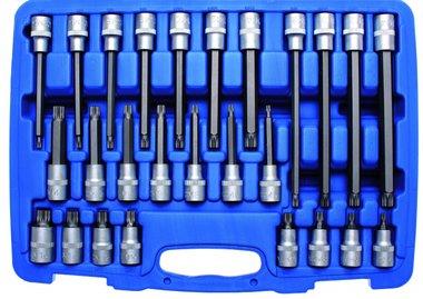 Set di chiavi a bussola 12,5 mm (1/2) multi dente (per XZN) 26 pezzi