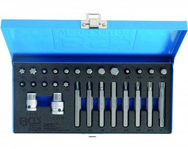 Set di punte 28 pezzi 6 lati (presa), XZN e Torx incl adattatori