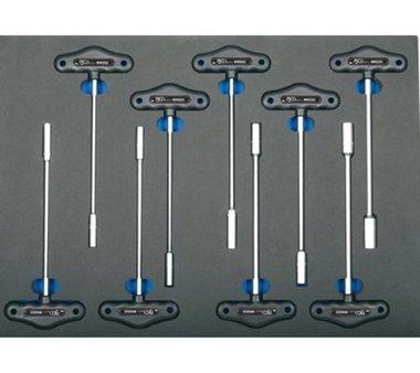 3/3 Modulo utensili Chiave a 9 pezzi Chiave con chiave a T per chiavi a T