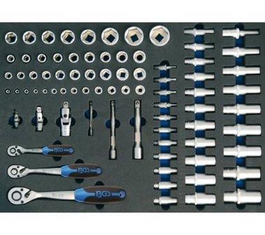 3/3 Modulo utensili Set di chiavi a cricchetto e chiave a tubo da 80 pezzi