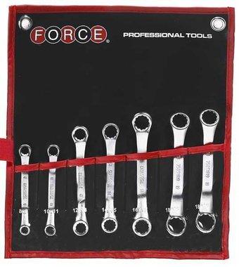 Set di chiavi ad anello mini 7 pezzi (45 curvo)