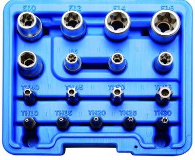 Set di punte e tappi torx interno  17 pezzi