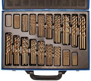 Set di punte a spirale HSS 5 cobalto lega 1 - 10 mm 170 pezzi