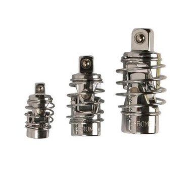 Set di giunti universali con molla 6,3 mm (1/4) / 10 mm (3/8) / 12,5 mm (1/2) 3 parti