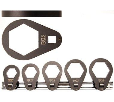 Set di chiavi per filtri dell'olio in 5 pezzi