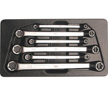 Set di chiavi ad anello doppio per viti E - tipo E6 - E24