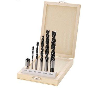 Set di punte per legno, corone e frese per legno 4 12 mm 6 pezzi