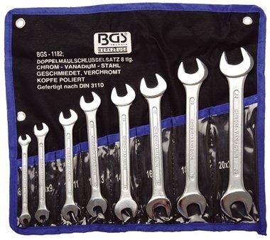 Set chiavi Open End da 8 pezzi 6x7 - 20x22 mm