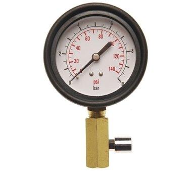 Contatore con valvola per la prova di pressione dellolio
