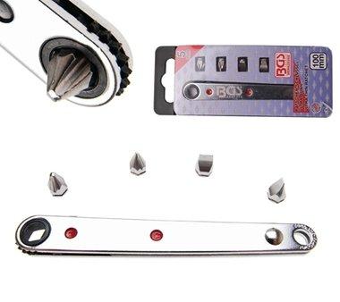 Bitratel speciale extra sottile 6,3 mm (1/4) di trasmissione incl. 4 bit speciali