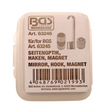 Set di accessori per endoscopio, prisma a specchio, gancio, magnete per BGS 63245