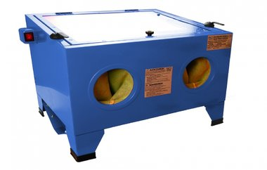 Cabinet di sabbiatura ad aria, illuminato