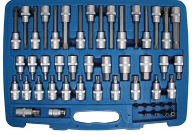 Set di tappi per inserti  Unita da 12,5 mm (1/2), 8 mm (5/16) unita  49 pz
