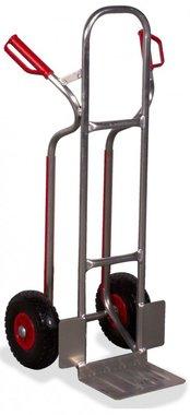 Carrello in alluminio Alto 250 kg Pneumatici PU (MW) 270x200 mm
