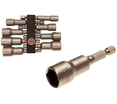 Set di tappi, esagono 6,3 mm (1/4) per trapani elettrici 6-13 mm 8 pezzi
