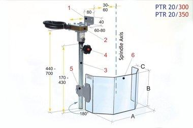 Tappo di protezione per punte grandi PTR 20/300, 3,90 kg