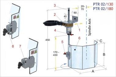 Coperchio di protezione per trapani tradizionali PTR 02/180, 2,60kg