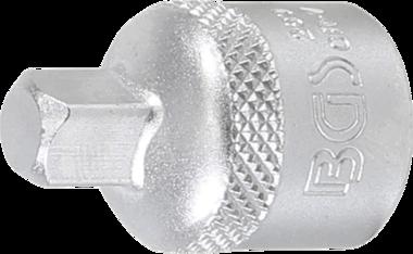 Adattatore per bussola quadro interno 10 mm (3/8) - quadro esterno 6,3 mm (1/4)