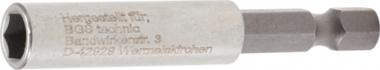 Porta-inserto magnetico, extra forte 6,3 mm (1/4) esagono 60 mm