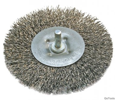 Spazzola metallica piatta, 100 mm