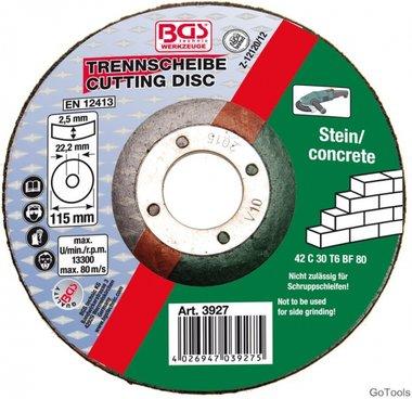Disco da taglio per pietra 115 x 2,5 x 22,2 mm Tipo 42