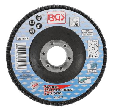 Disco lamellare, diametro 115 mm, granulometria 80