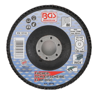 Disco lamellare diametro 125 mm K 80