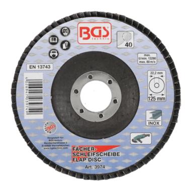 Diametro disco lamellare 125 mm K 40