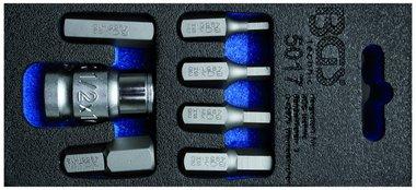 Set di punte per cacciavite Attacco 10 mm 3 8 7 parti