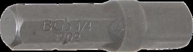 Adattatore per chiave a brugola (1/4) - quadrato esterno (1/4) 30 mm