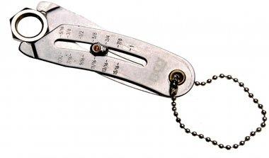 Misuratore di larghezza chiave per misure metriche e in pollici