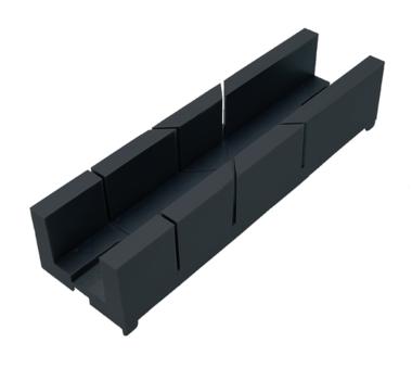 Contenitore per mitria in plastica, 245x67x48 mm