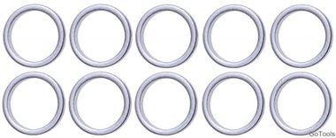 Assortimento di anelli di tenuta per BGS 126 13 / 16,5 mm 10 pezzi