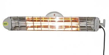 Doppio riscaldatore a infrarossi con 2 lampade