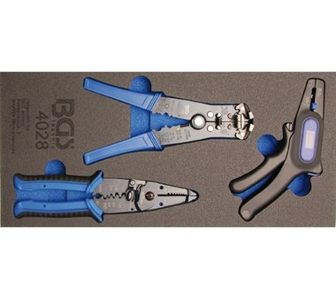 1/3 Modulo utensili Set di tre fascette per cavi in tre pezzi