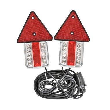 Set luci rimorchio a LED con riflettori magneti 7,5+2,5M di cavo