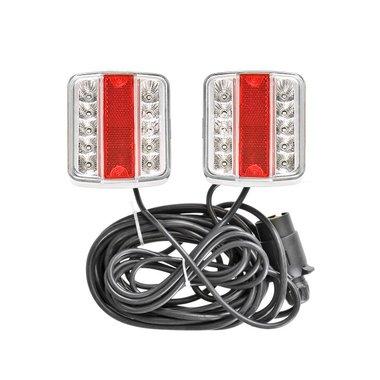 Set luci rimorchio LED con magneti 7,5+2,5M di cavo