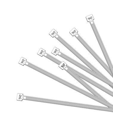 Fascette di cablaggio 350x4,5mm 1000 pezzi bianco