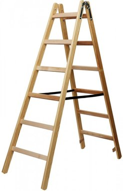 Scala in legno 2x6 pioli Altezza della scala a telaio 1,58m