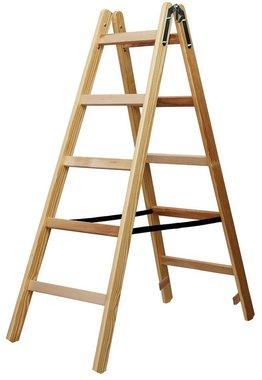 Scala in legno 2x5 pioli Altezza della scala a telaio 1,32m