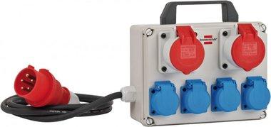 Mini distributore di potenza BKV 2/4 T IP44