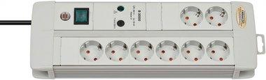 Protettore di sovratensione Premium-Line 8 bande Duo grigio chiaro 3m
