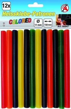 12 pezzi di colla colorata bastoncini 11 mm