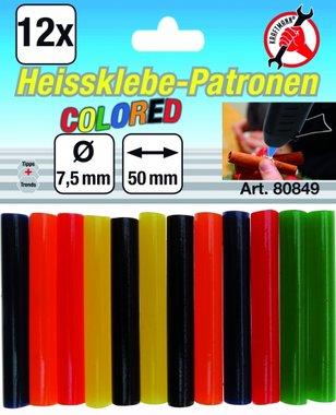 12 stick di colla colorata in 12 pezzi, 7,5 mm