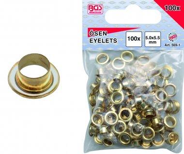 100 pezzi occhielli 5,0 mm