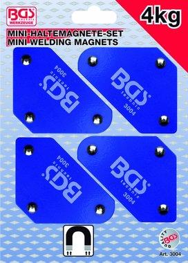 Set di supporti magnetici miniaturizzati in 4 pezzi, 45° -90°-135°