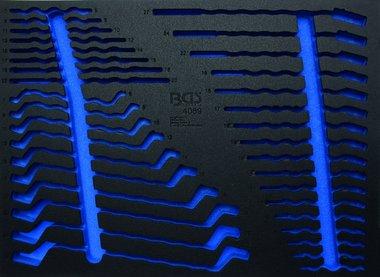 Vassoio portautensili 3/3 (408x567x32 mm), vuoto, per 35 pezzi estremita aperta