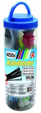 Assortimento di fascette per fascette colorate da 450 pezzi