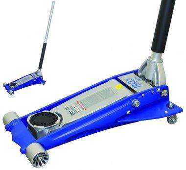 Sollevatore a pavimento idraulico in alluminio, extra piatto